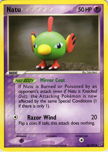 Natu card for EX Deoxys