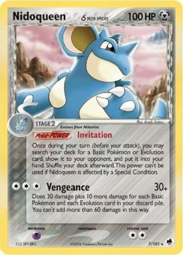 Nidoqueen card for EX Dragon Frontiers