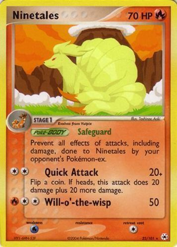 Ninetales card for EX Hidden Legends
