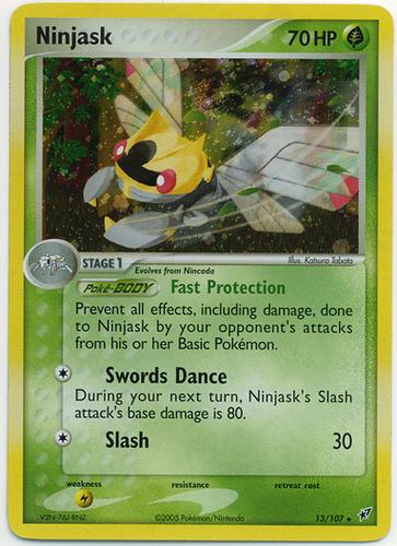 Ninjask card for EX Deoxys