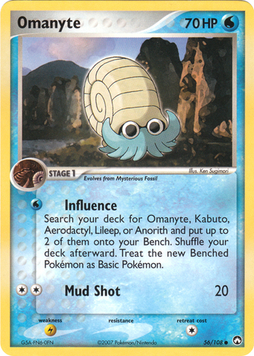 Omanyte card for EX Power Keepers