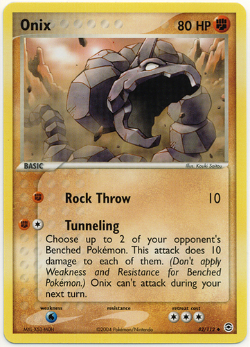 Onix card for EX FireRed & LeafGreen