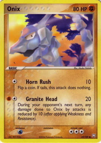 Onix card for EX Team Rocket Returns