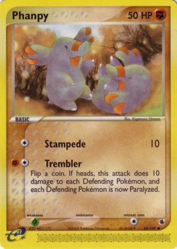 Phanpy card for EX Ruby & Sapphire