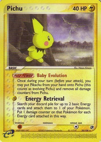 Pichu card for EX Sandstorm