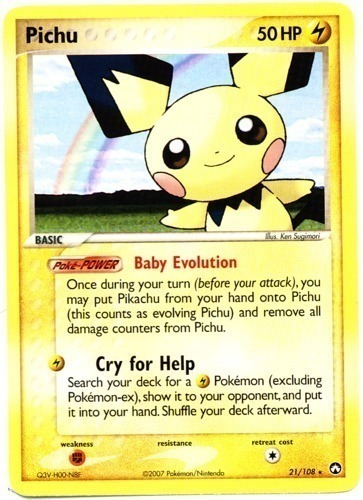 Pichu card for EX Power Keepers