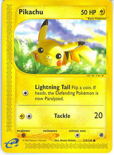 Pikachu card for Expedition Base Set