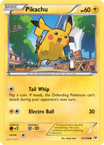 Pikachu card for Roaring Skies