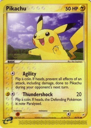 Pikachu card for EX Team Magma vs Team Aqua