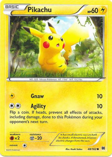 Pikachu card for BREAKthrough