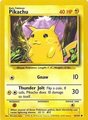 Pikachu card for Base Set