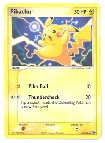 Pikachu card for EX Emerald