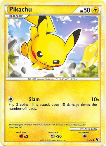 Pikachu card for Undaunted