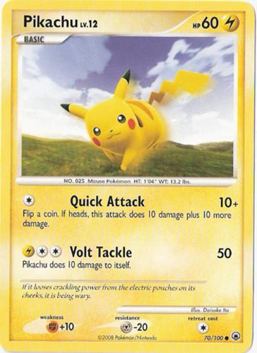 Pikachu card for Majestic Dawn