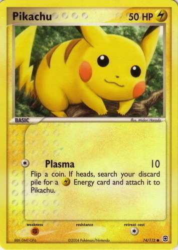 Pikachu card for EX FireRed & LeafGreen