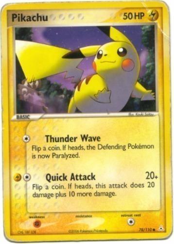Pikachu card for EX Holon Phantoms