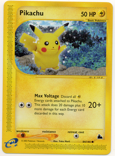 Pikachu card for Skyridge