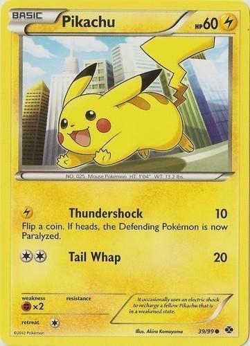 Pikachu card for Legendary Treasures