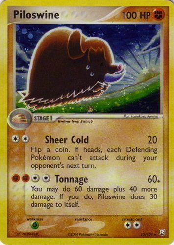 Piloswine card for EX Team Rocket Returns