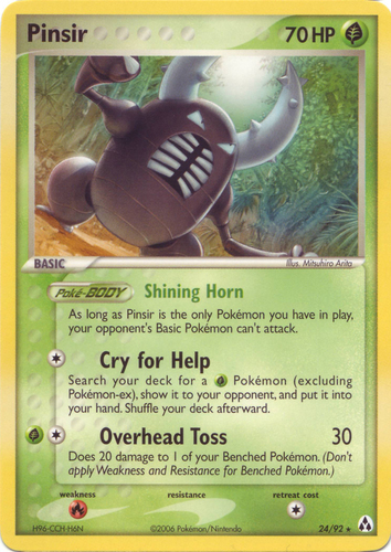 Pinsir card for EX Legend Maker