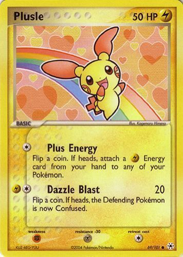 Plusle card for EX Hidden Legends