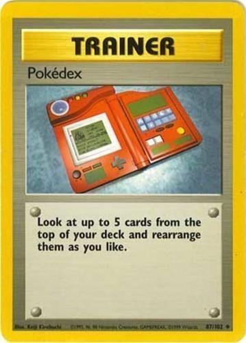 Pokédex card for Base Set