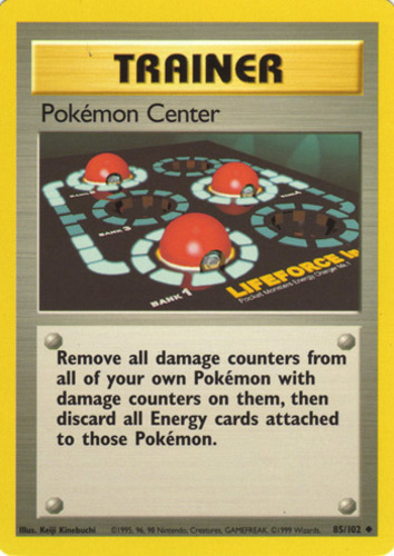 Pokémon Center card for Base Set