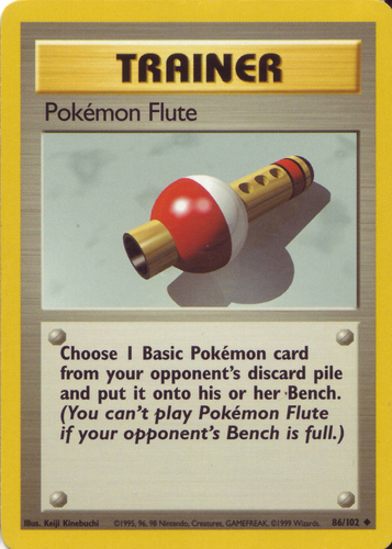 Pokémon Flute card for Base Set