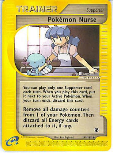 Pokémon Nurse card for Expedition Base Set