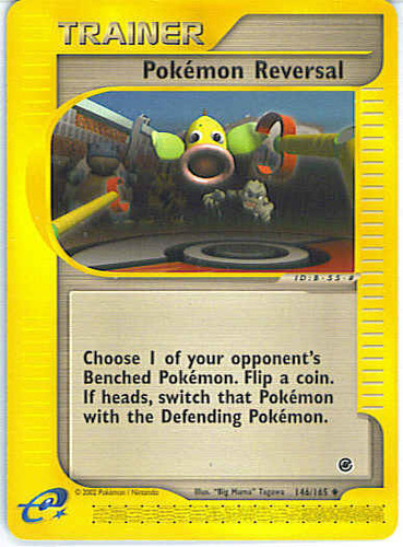 Pokémon Reversal card for EX Unseen Forces