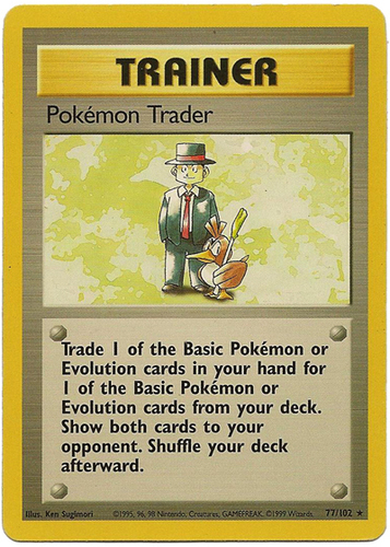 Pokémon Trader card for Base Set 2