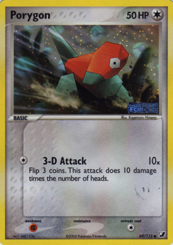 Porygon card for EX Unseen Forces