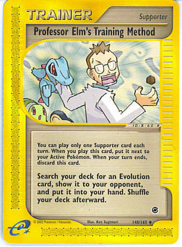 Professor Elm's Training Method card for EX Unseen Forces