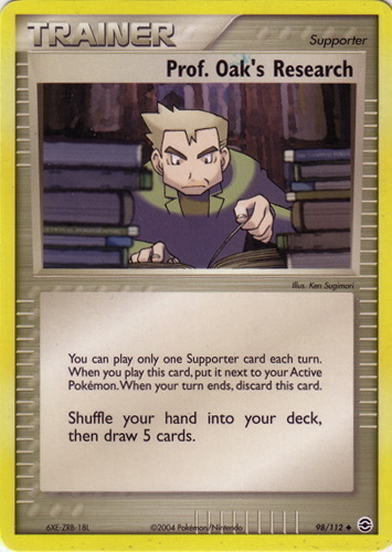 Professor Oak's Research card for EX FireRed & LeafGreen