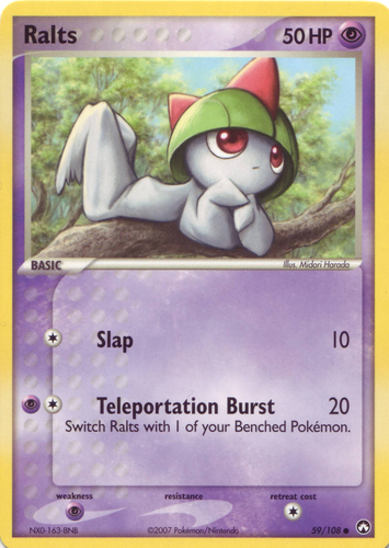 Ralts card for EX Power Keepers