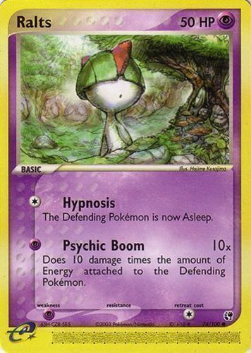 Ralts card for EX Dragon Frontiers
