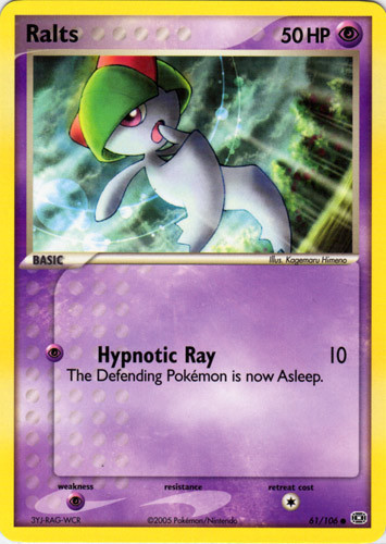 Ralts card for EX Emerald