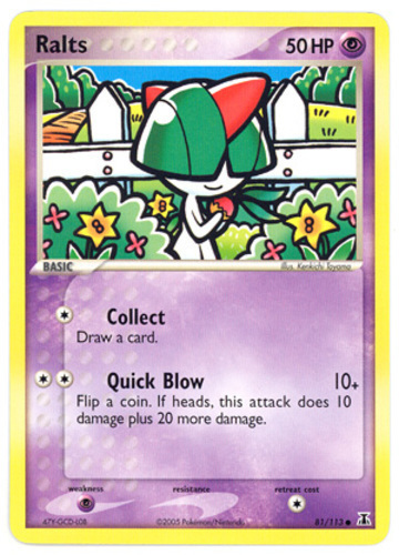 Ralts card for EX Delta Species
