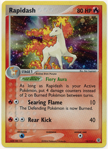 Rapidash card for EX FireRed & LeafGreen