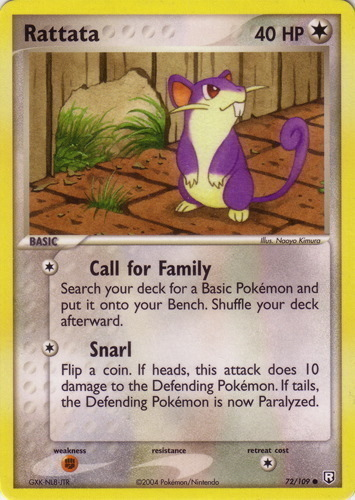 Rattata card for EX Team Rocket Returns