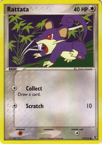 Rattata card for EX FireRed & LeafGreen