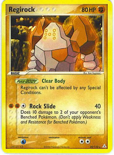 Regirock card for EX Holon Phantoms