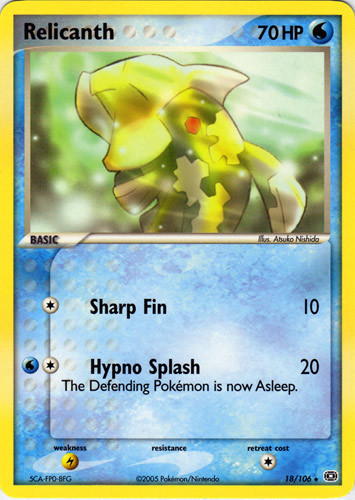 Relicanth card for EX Emerald