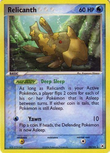 Relicanth card for EX Hidden Legends