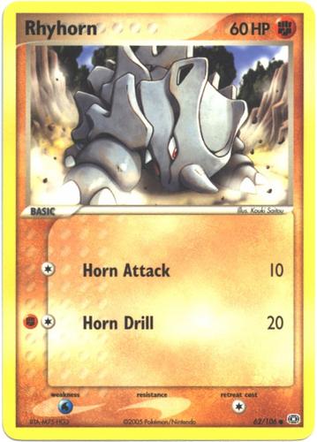 Rhyhorn card for EX Emerald