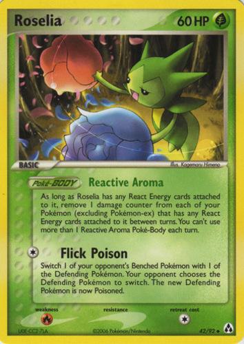 Roselia card for EX Legend Maker