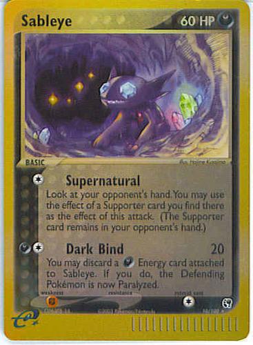 Sableye card for EX Sandstorm