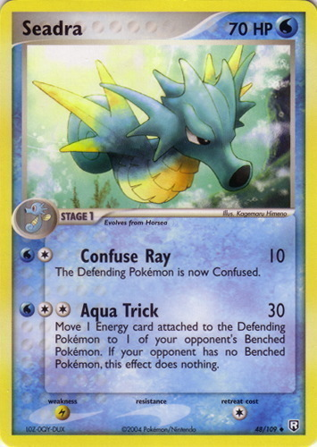 Seadra card for EX Team Rocket Returns