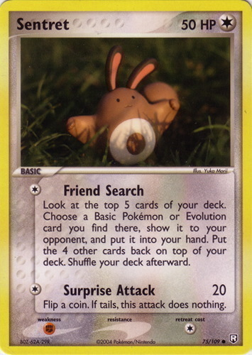 Sentret card for EX Team Rocket Returns