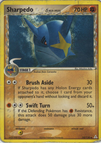 Sharpedo card for EX Holon Phantoms